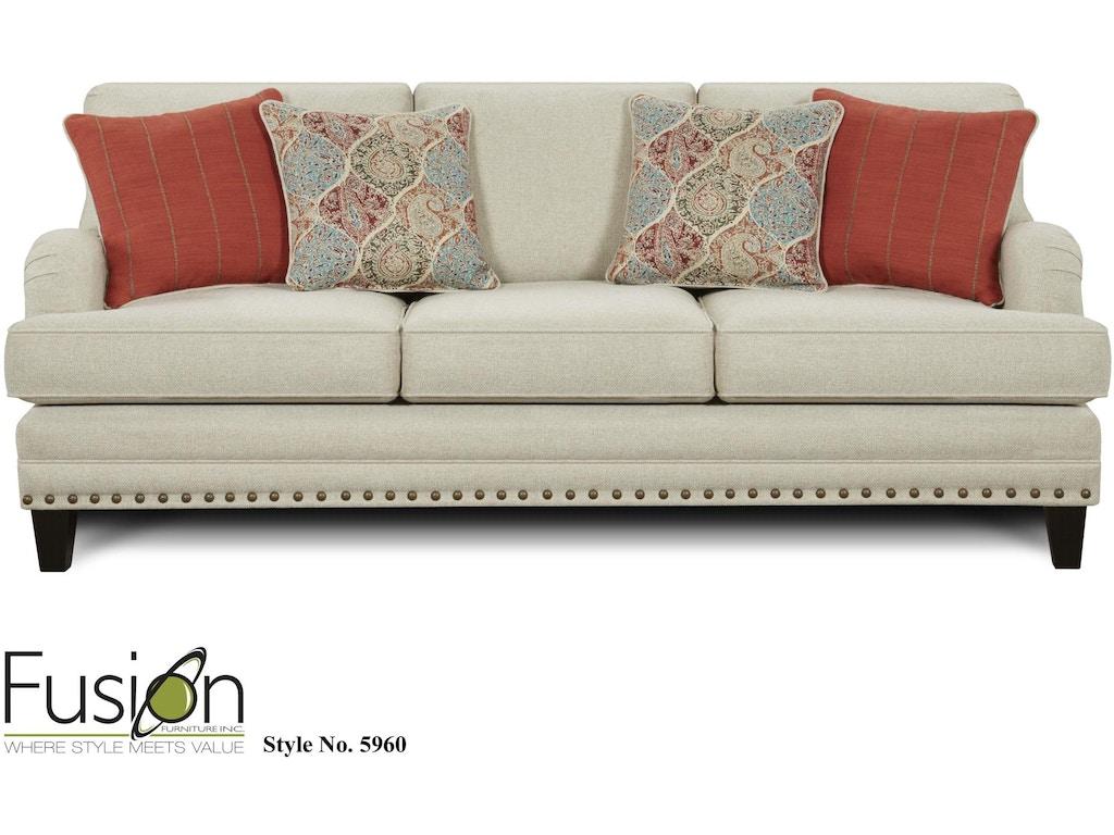 Fusion Living Room The 5960 Aria Linen - Andrews Furniture - Abilene, TX