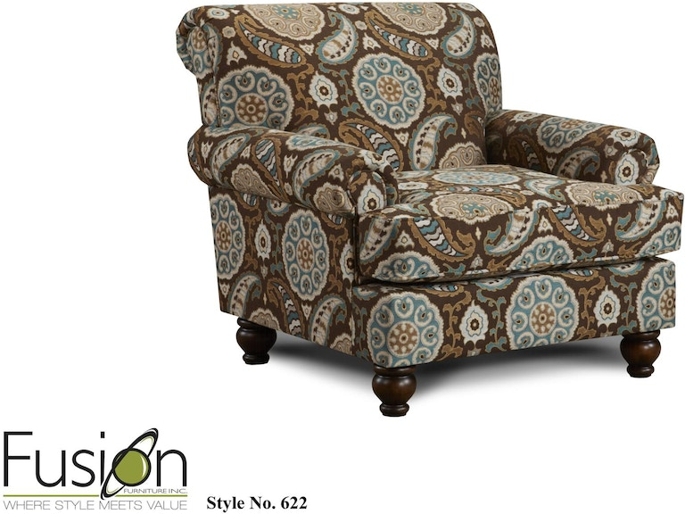 Fusion Living Room The 2820 Kp Anna White Linen Dewey