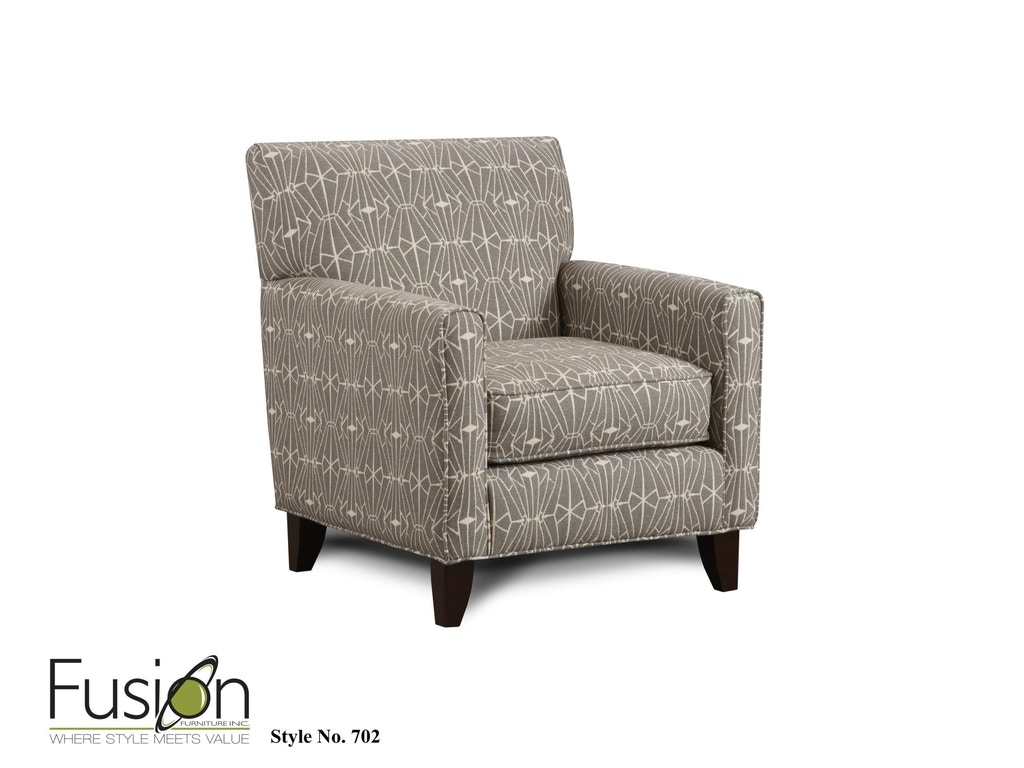 Fusion Living Room Accent Chair 702emblem Charcoal