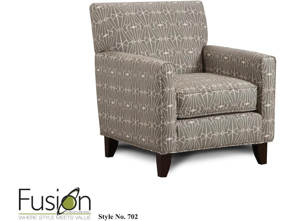 Fusion Living Room Accent Chair 702emblem Charcoal B F