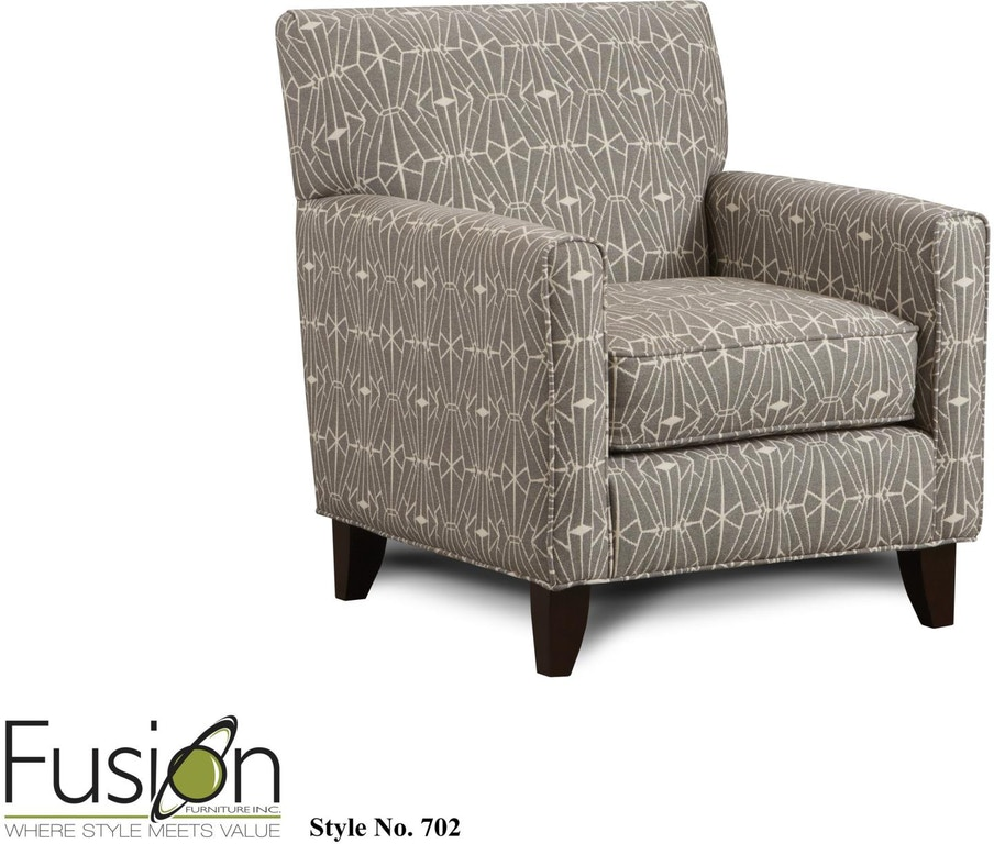 Stupendous Fusion Living Room Accent Chair 702Emblem Charcoal Hennen Pdpeps Interior Chair Design Pdpepsorg
