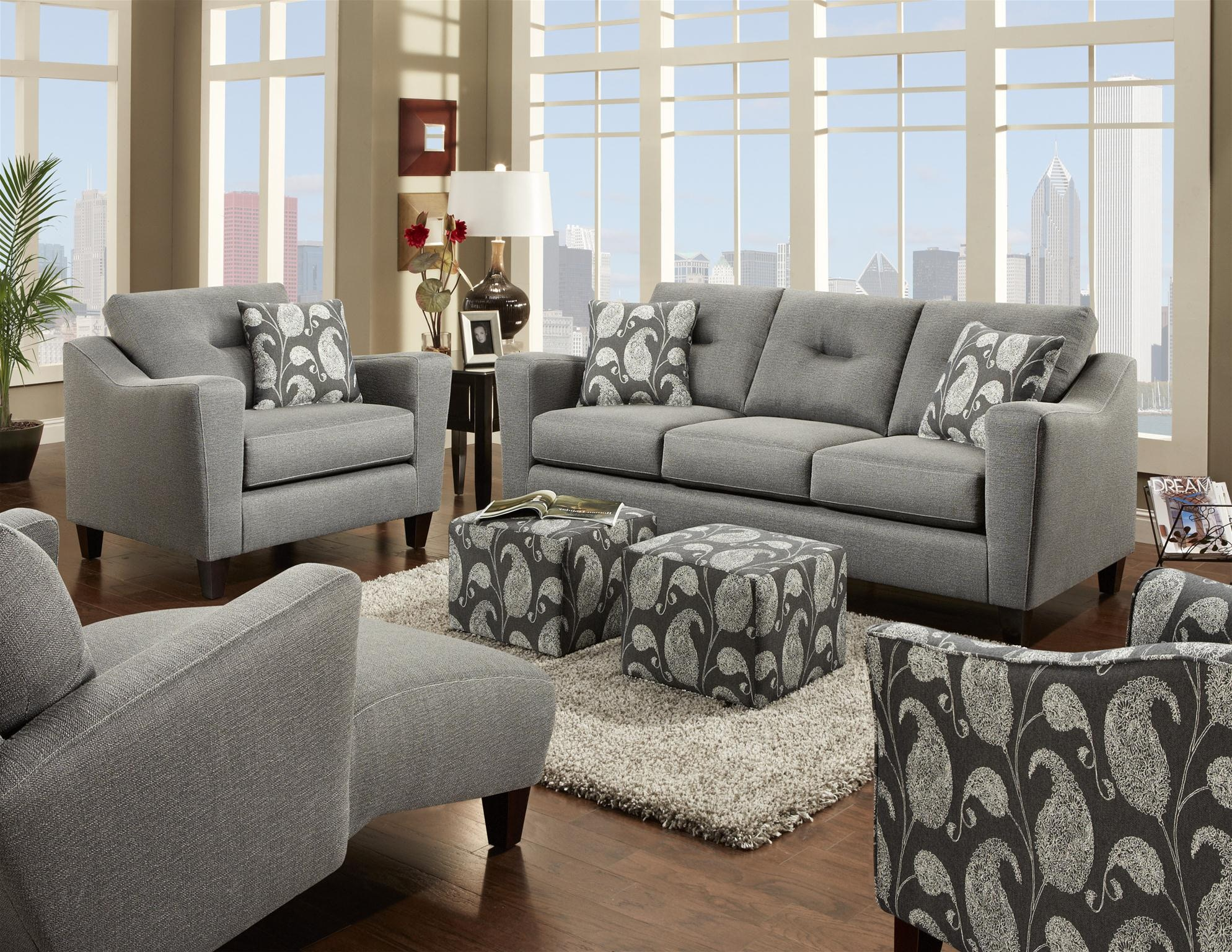Fusion Living Room Chair 8102Apex Cinder At B.F. Myers Furniture
