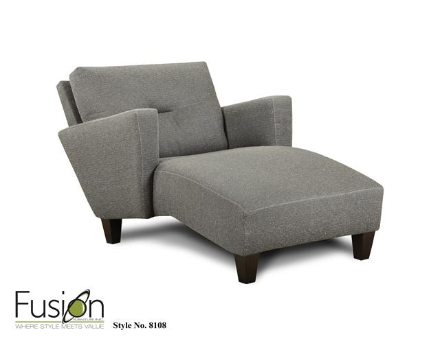 Fusion Chaise 8108Apex Cinder