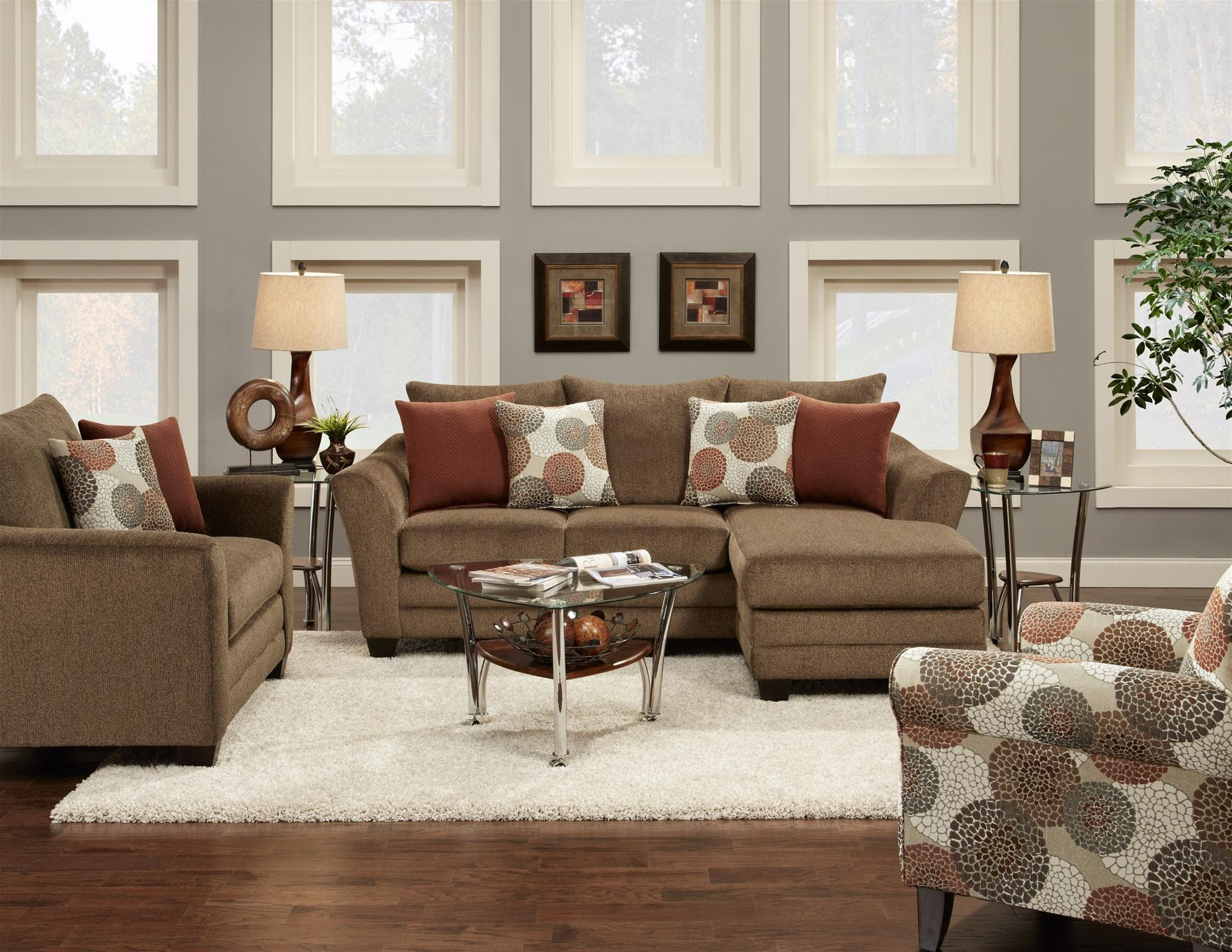 Fusion Living Room Chair 9722Cornell Cocoa At B.F. Myers Furniture