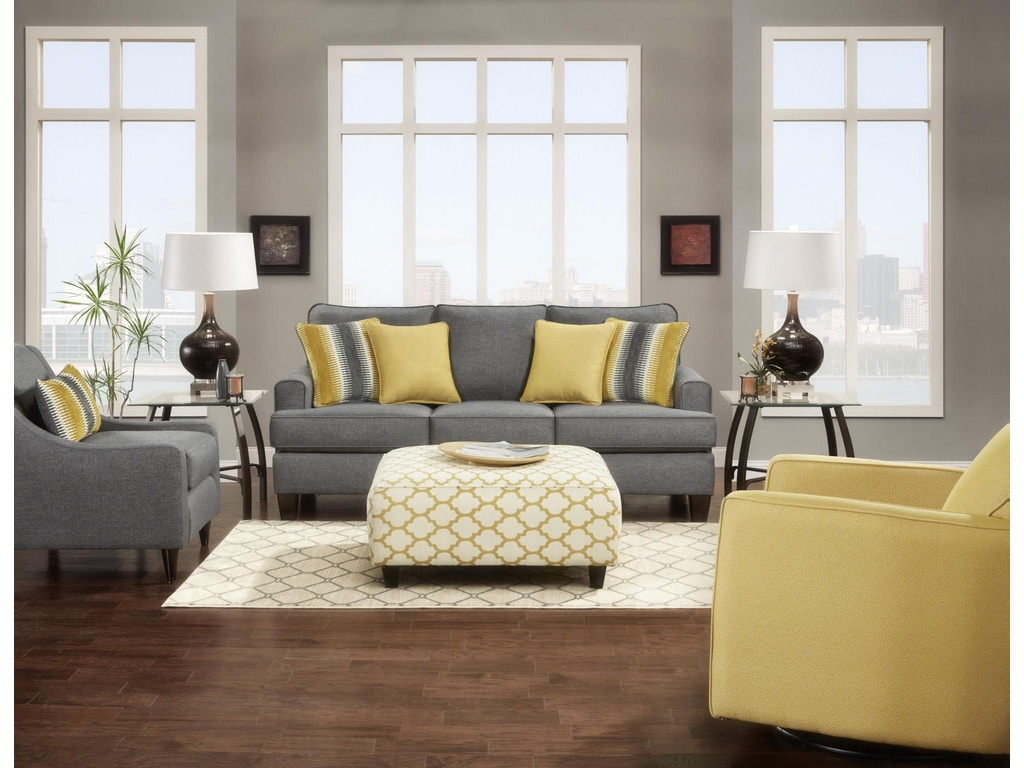 Fusion Living Room Sofa 2600maxwell Gray Charter Furniture Dallas Fort Worth Tx