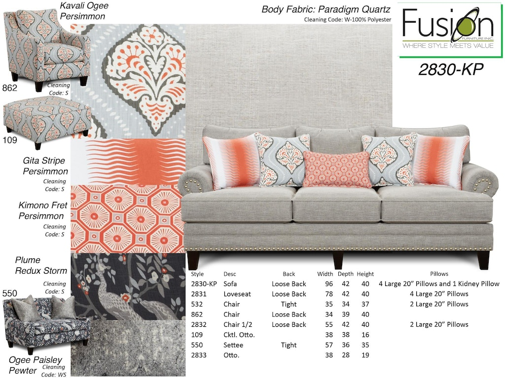 Fusion Living Room The 2830 Kp Paradigm Quartz High
