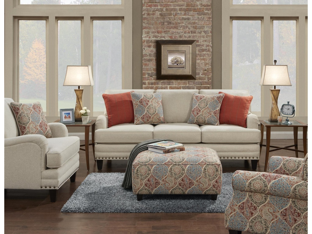 Fusion Living Room The 5960 Aria Linen Charter Furniture