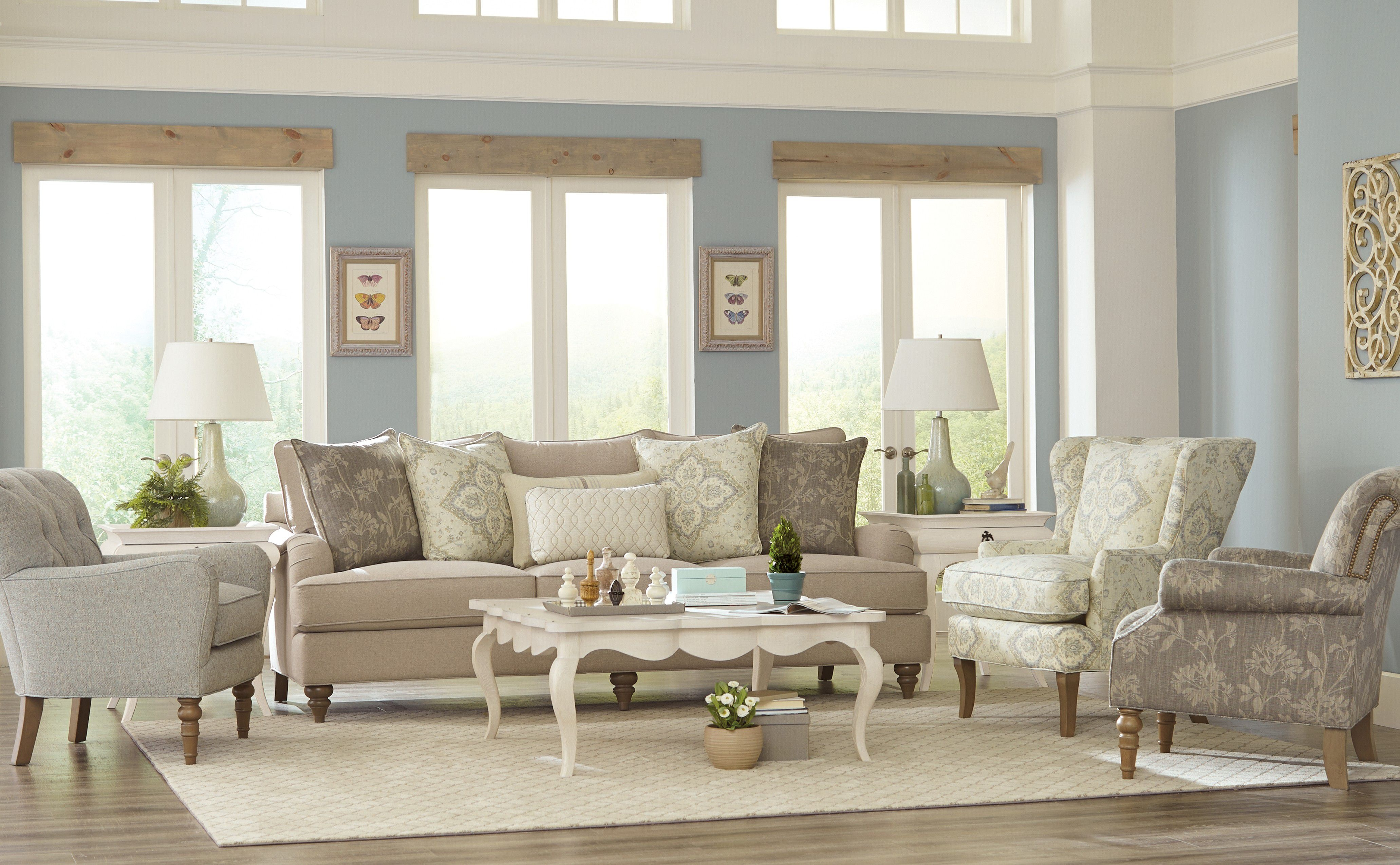 paula deen living room furniture paula deen by craftmaster living room sofa p773654bd 18374