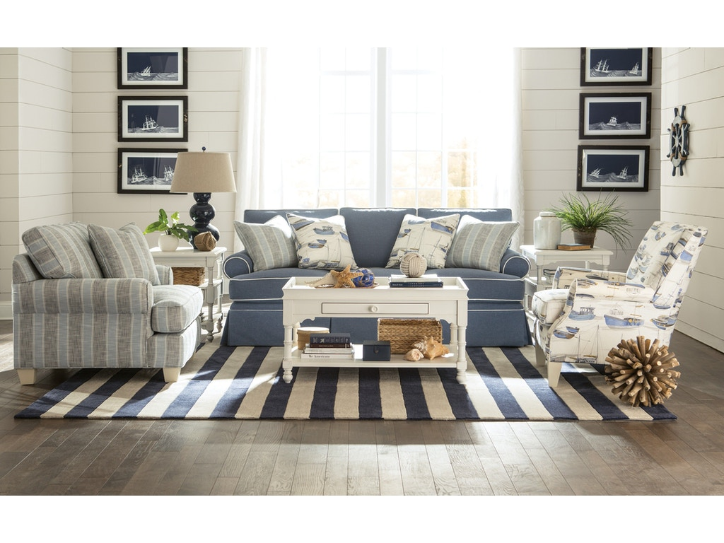 Paula deen by craftmaster living room sofa p912150 Seaside collection furniture
