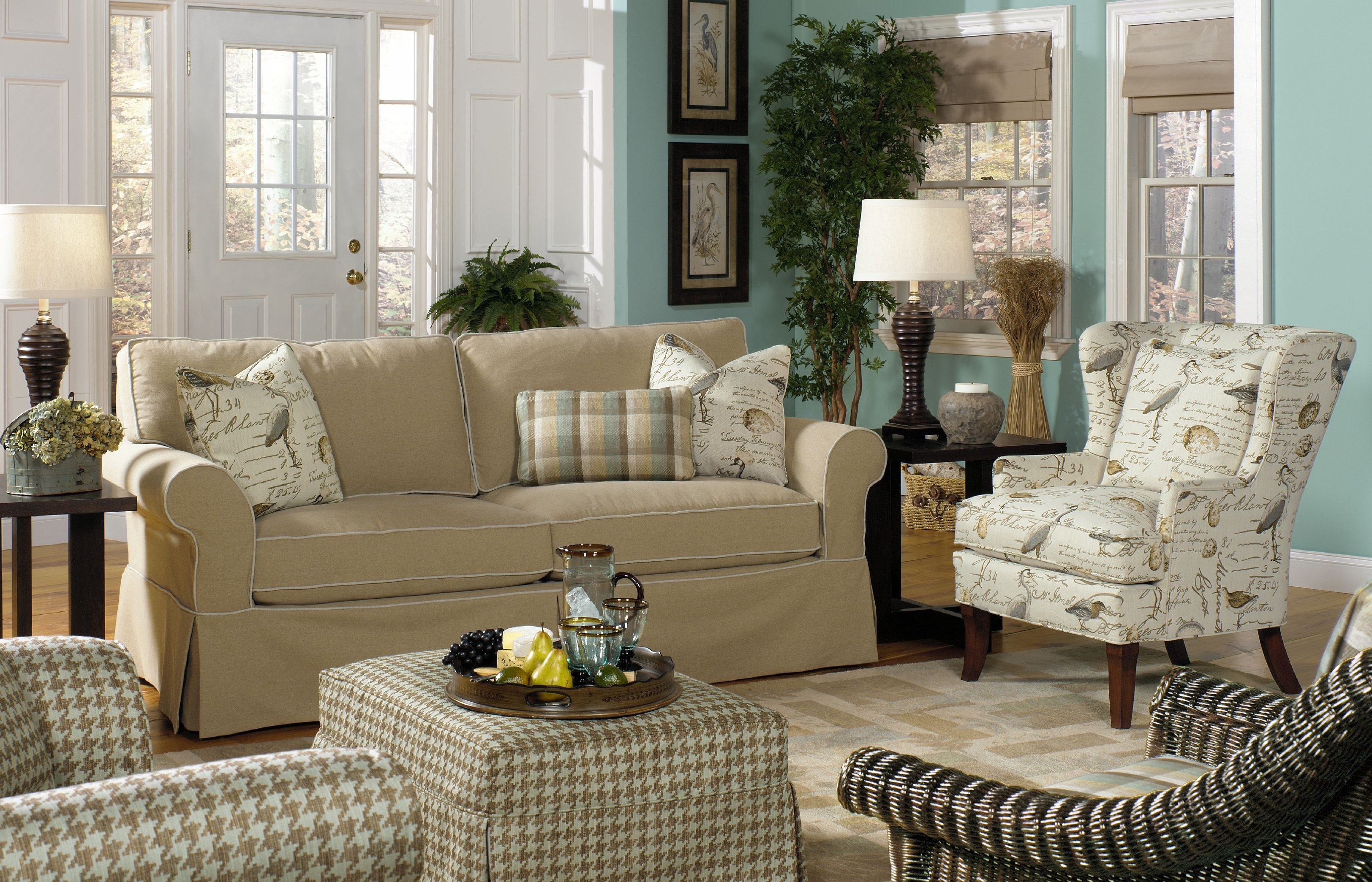 paula deen by craftmaster sofa p928550bd - Paula Dean Furniture