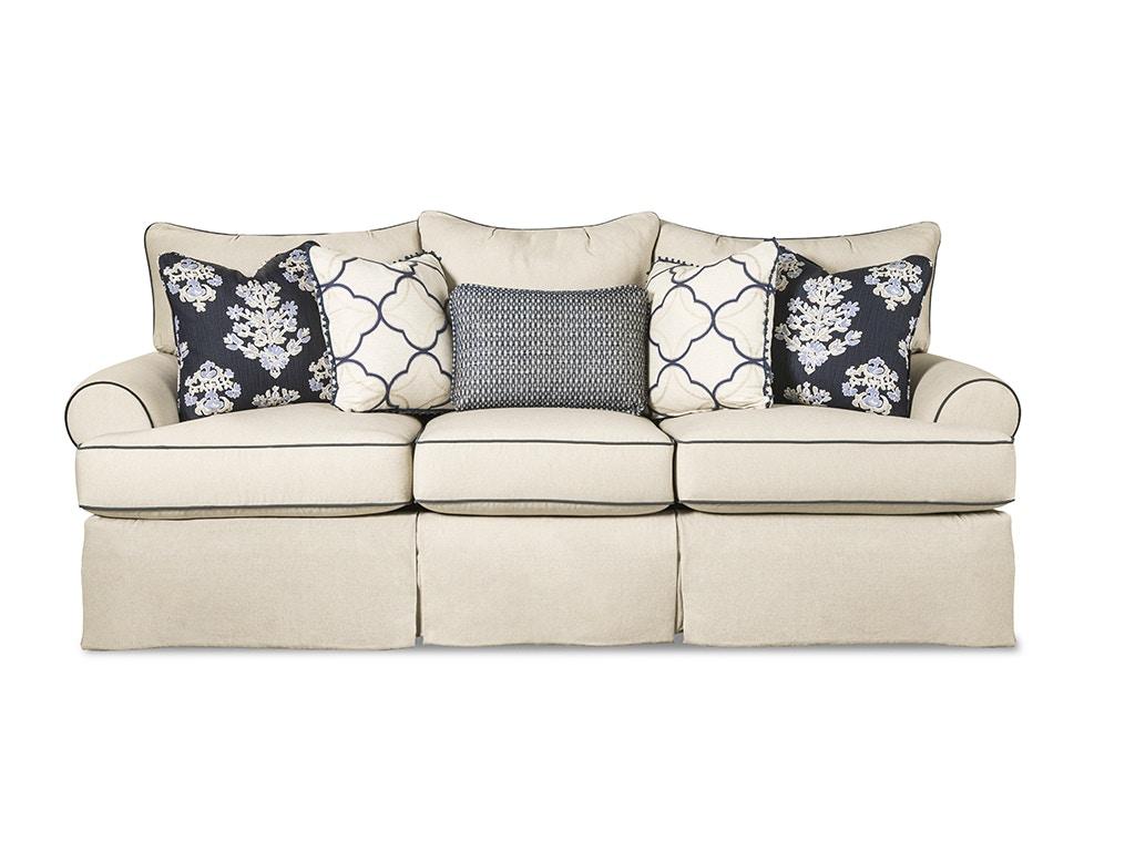 Paula Deen By Craftmaster Living Room Three Cushion Sofa