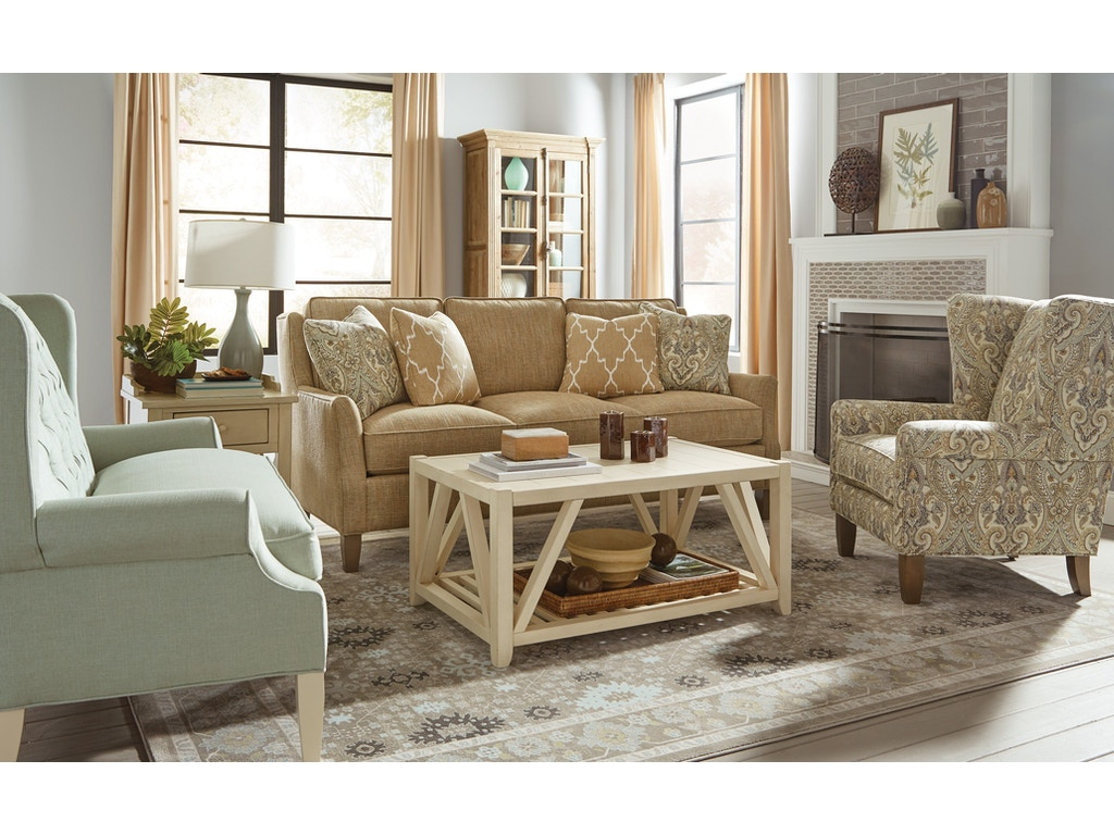 Paula deen by craftmaster living room sofa p779450bd gibson furniture andrews nc for Paula deen living room furniture