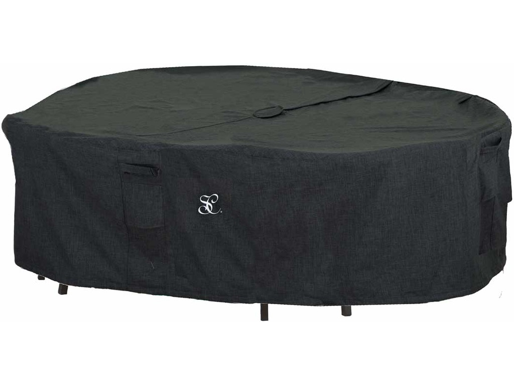 Summer Classics Outdoor Patio Rectangular Dining Table Set Cover With Umbrella Hole 124605 Howard