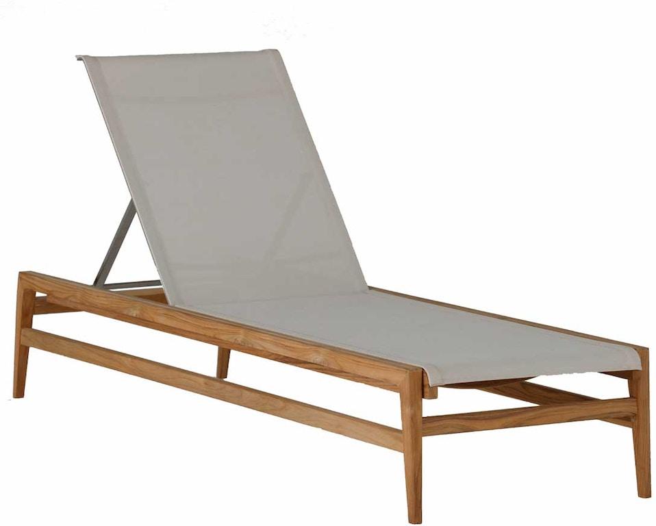 Summer Classics Outdoor Patio Coast Teak Chaise Lounge 27334