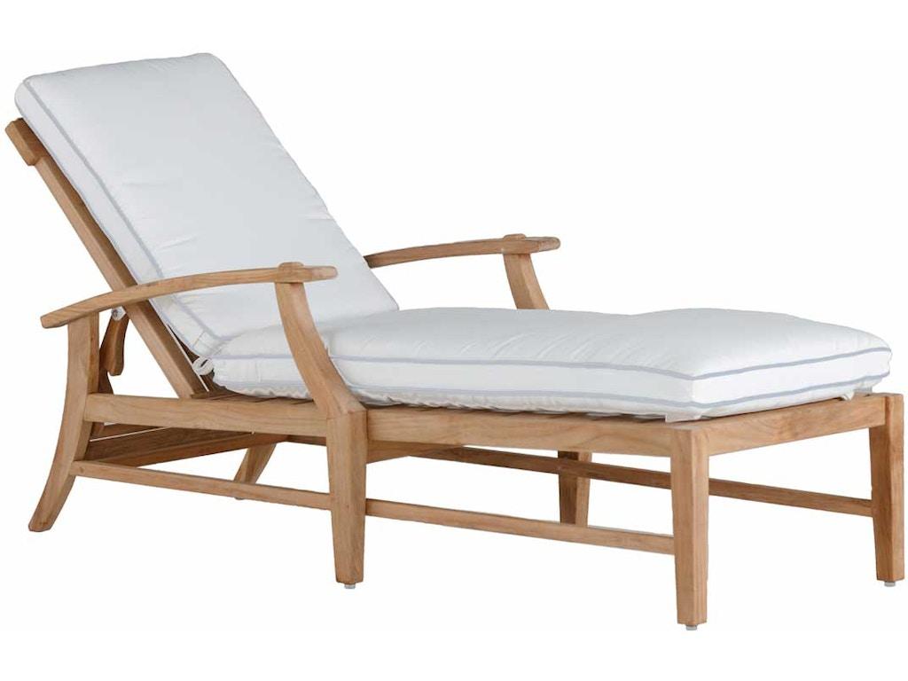 Summer Classics Outdoor Patio Croquet Teak Chaise 28234 Elite Interiors Myrtle Beach Sc