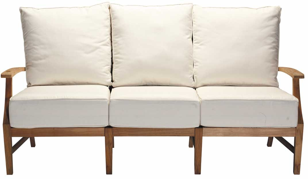Summer Classics Outdoor Patio Croquet Teak Sofa Swann s Furniture Tyler TX