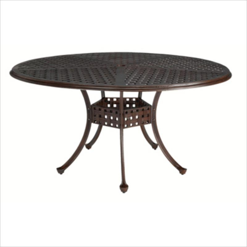 Summer Classics Double Lattice 60 Inches Round Dining Table 42762