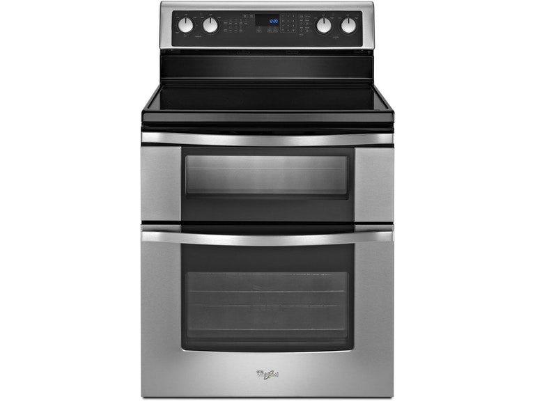 Whirlpool Kitchen Double Oven Electric Range Wge555s0bs Sides