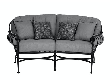 Meadowcraft Athens Crescent Loveseat 3621000-01
