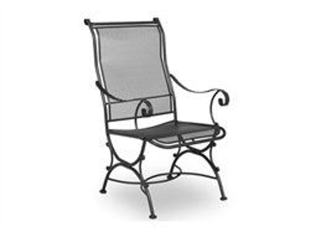 Meadowcraft outdoor patio alexandria dining chair 3021140 for Furniture 4 less decatur al
