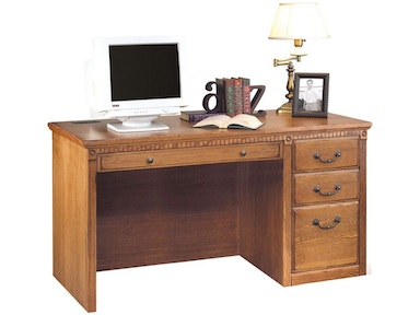 Kathy Ireland™ Home by Martin Single Pedestal Computer Desk HO5401W
