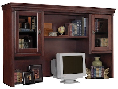 Kathy Ireland™ Home by Martin Storage Hutch with Pull-out Task Light Bridge HCR6821