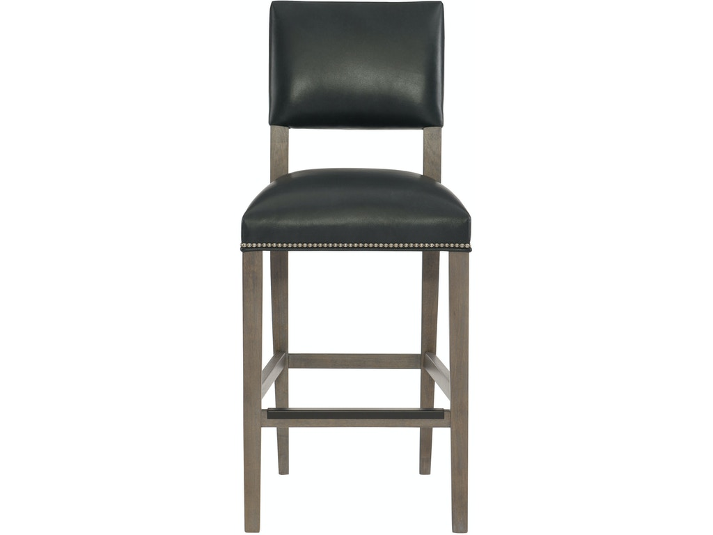 Bernhardt interiors bar and game room leather bar stool for Interior leather bar