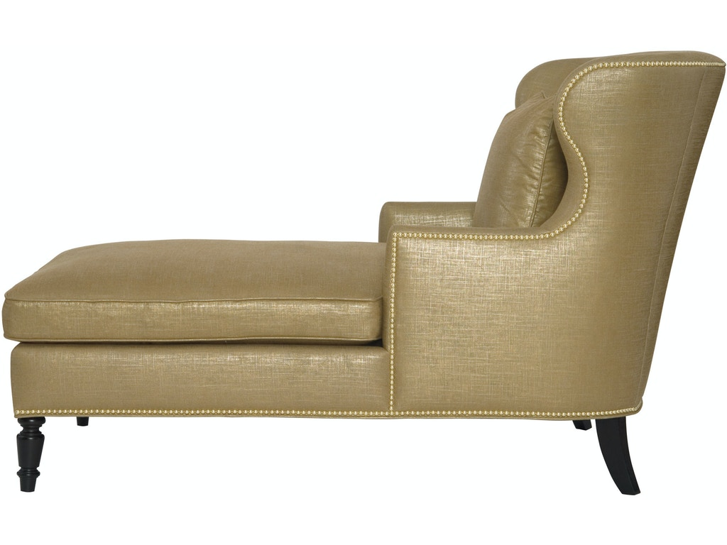 Bernhardt interiors living room chaise n1084 woodchucks for Chaise decorative