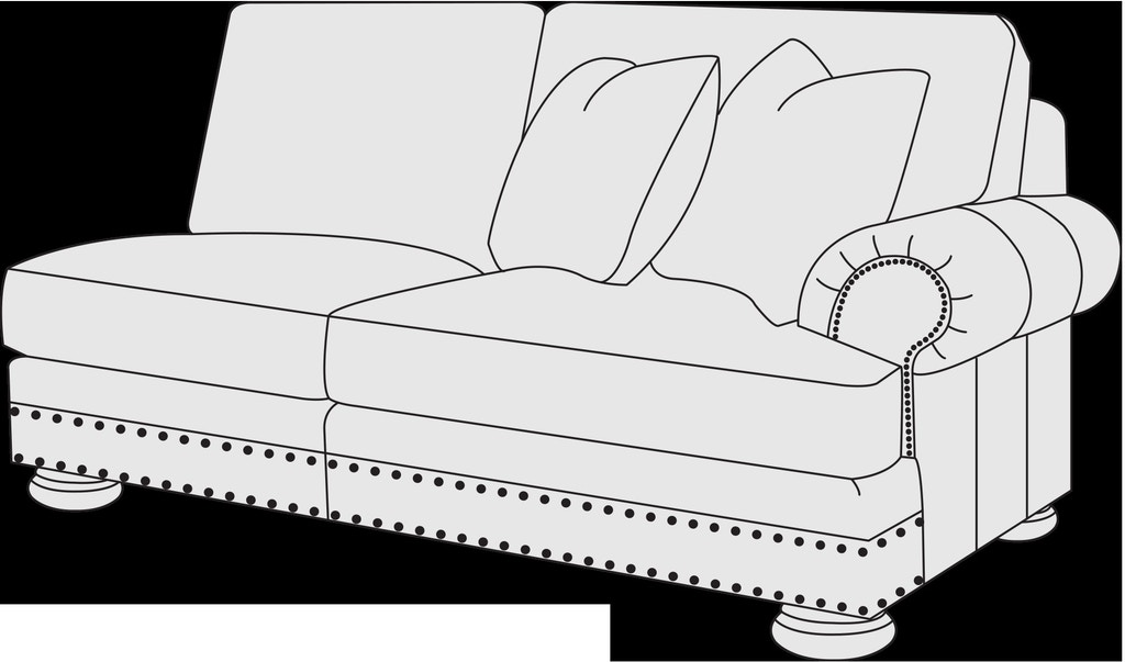 Outstanding Bernhardt Living Room Right Arm Loveseat 5341L Stacy Andrewgaddart Wooden Chair Designs For Living Room Andrewgaddartcom