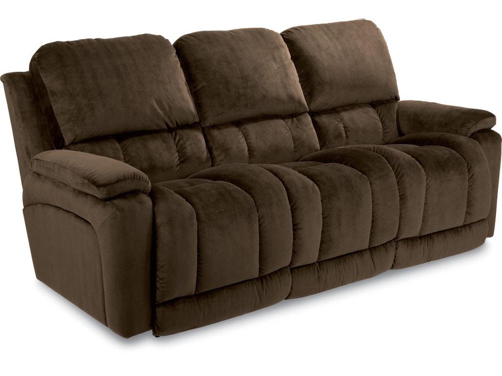 La Z Boy Living Room Full Reclining Sofa 440530 Rosso S