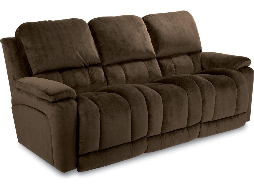 La-Z-Boy Living Room Greyson La-Z-Time® Full Reclining Sofa ...