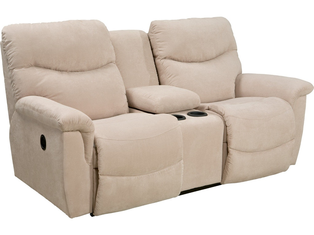 La Z Boy Living Room La Z Time Full Reclining Loveseat With Console 490521 Hickory Furniture