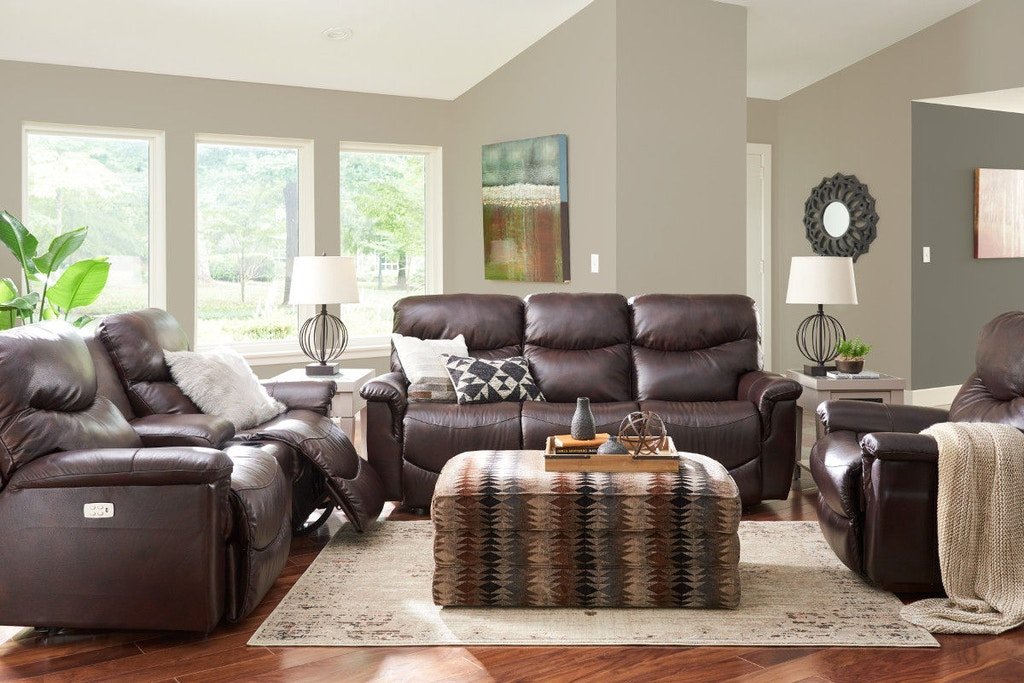 La-Z-Boy Living Room James La-Z-Time® Full Reclining Sofa ...