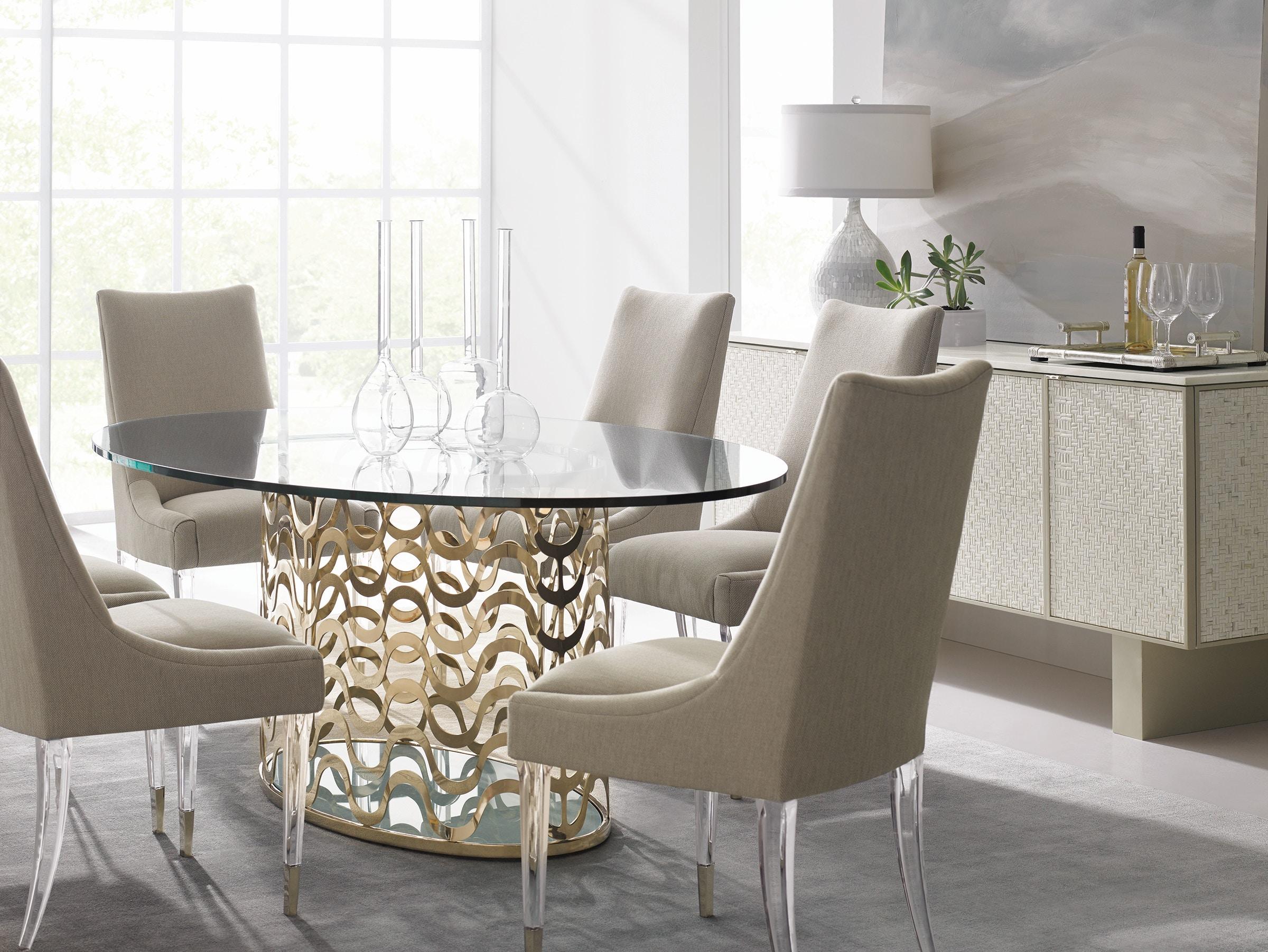 caracole dining room wavelength cla 416 203 kalin home caracole wavelength cla 416 203