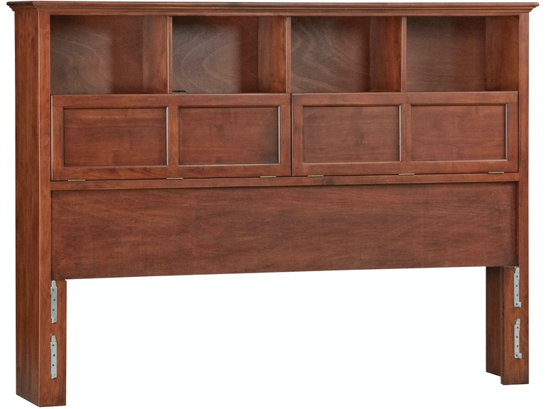 Cal King Bookcase Headboard: Whittier Wood Products GAC McKenzie Cal-King Bookcase