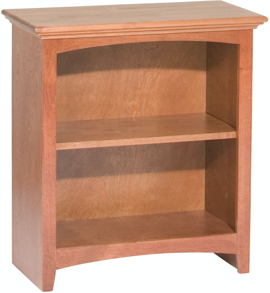 Whittier Wood Products Gac 29 H X 24 W Mckenzie Alder Bookcase