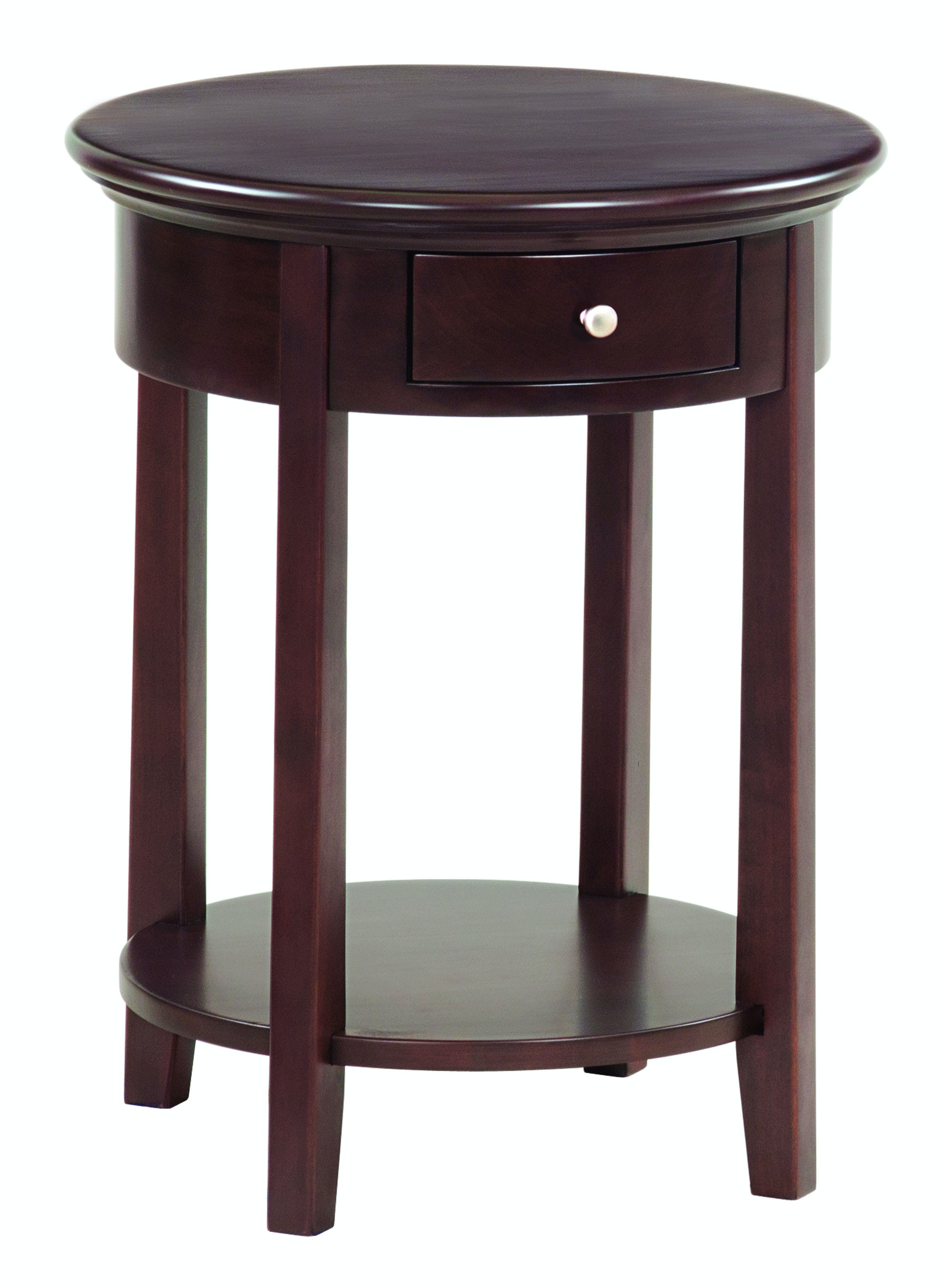 Whittier Wood Products Caf Mckenzie Round Side Table 3495caf