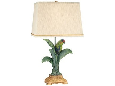 Kathy Ireland Home by Pacific Coast Lighting Tropical Parrot Table Lamp 87-7265-81