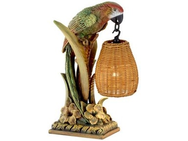 Kathy Ireland Home by Pacific Coast Lighting Parrot Paradise Table Lantern 87-7410-81