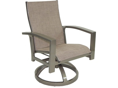 Castelle Outdoor Patio Orion Sling Swivel Rocker 1078s