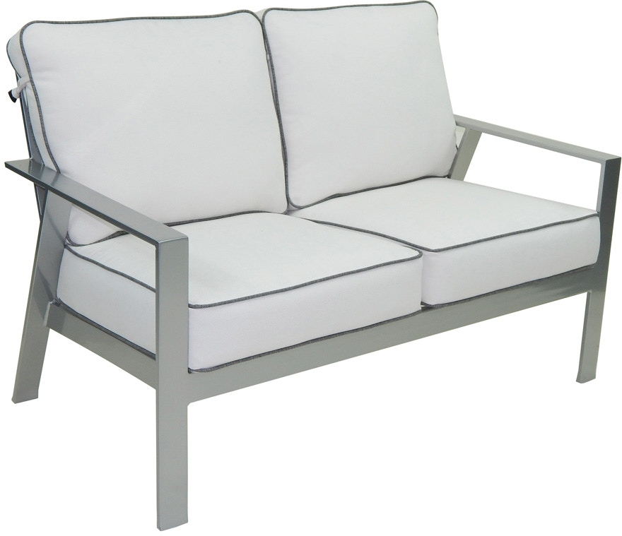 Castelle Outdoor Patio Cushioned Loveseat 3131t Zing