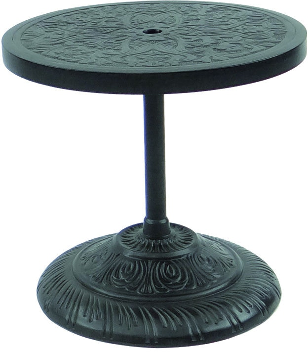 Castelle Outdoor Patio 24 Quot Round Cast Top Side Table W