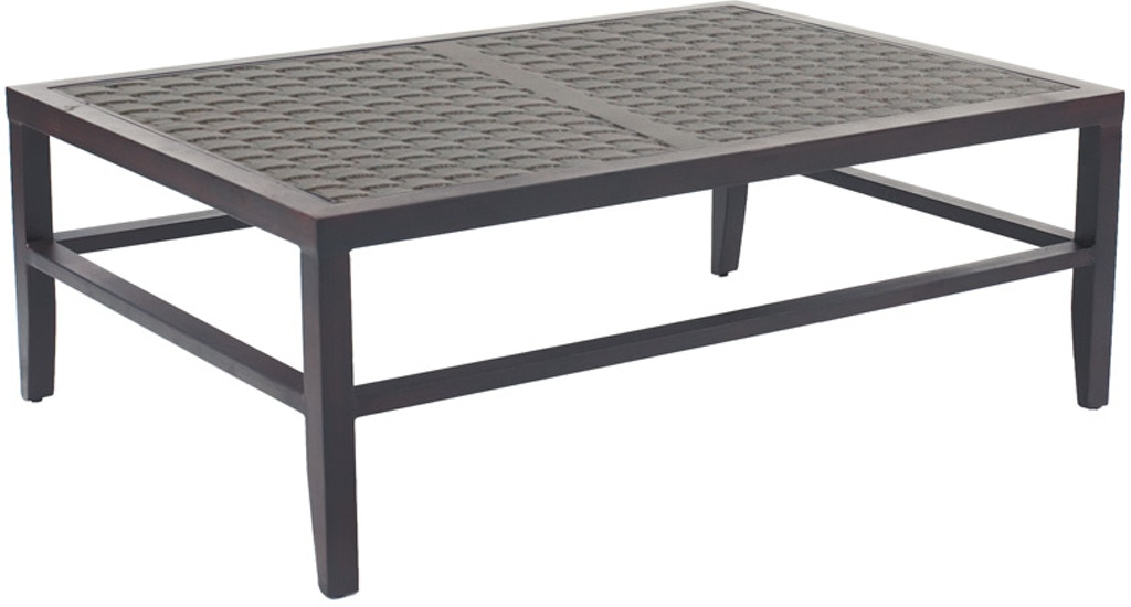 Castelle Outdoor Patio Classical Large Rectangular Coffee Table Src3248 Norwood Furniture