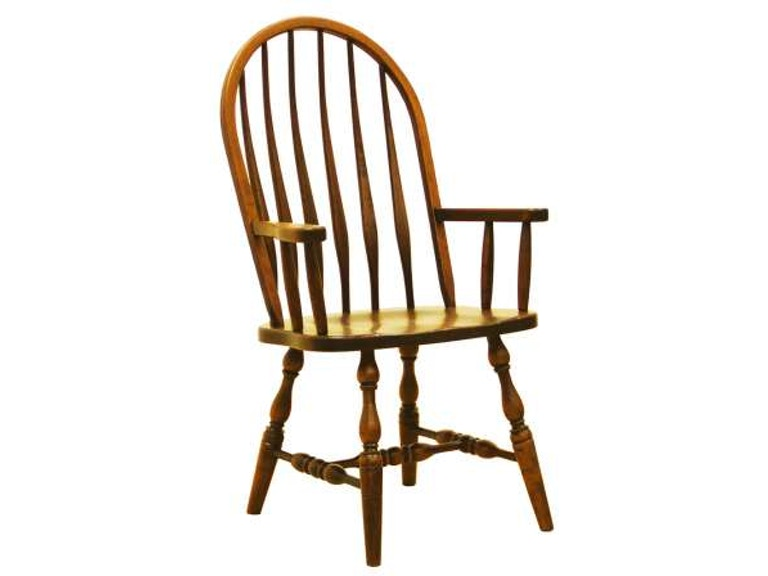 Valley View Oak Dining Room High Back Bent Feather Arm Chair VVO17111  Walter E. Smithe Furniture + Design