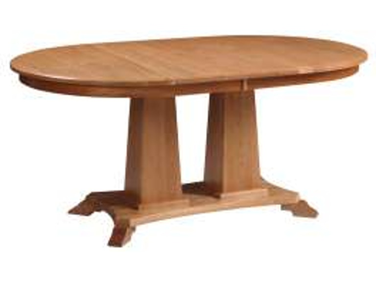 Valley View Oak Cascade Double Pedestal Table 23028 from Walter E. Smithe  Furniture + Design