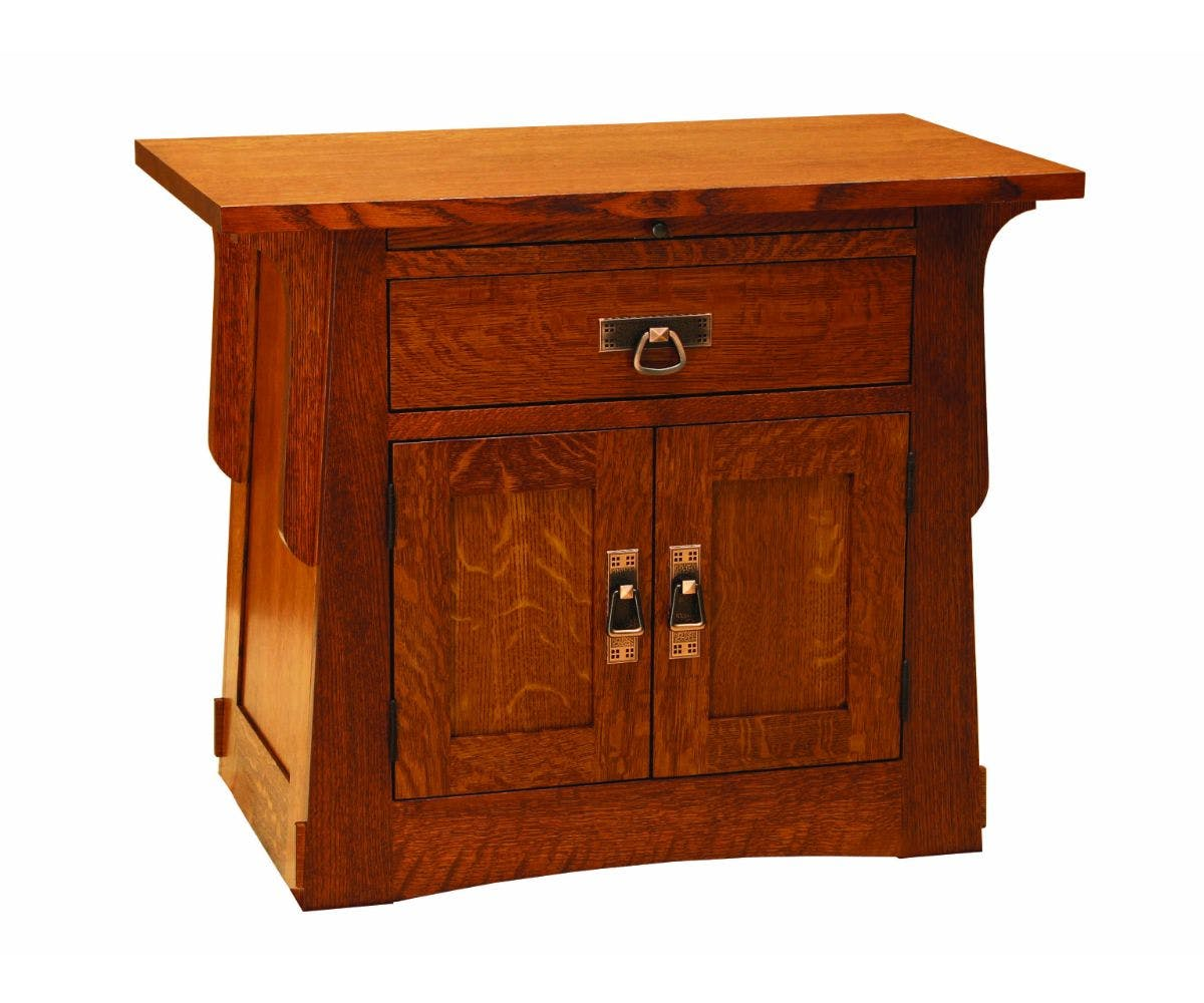 Door Nightstand With Pullout Vvo8x2130