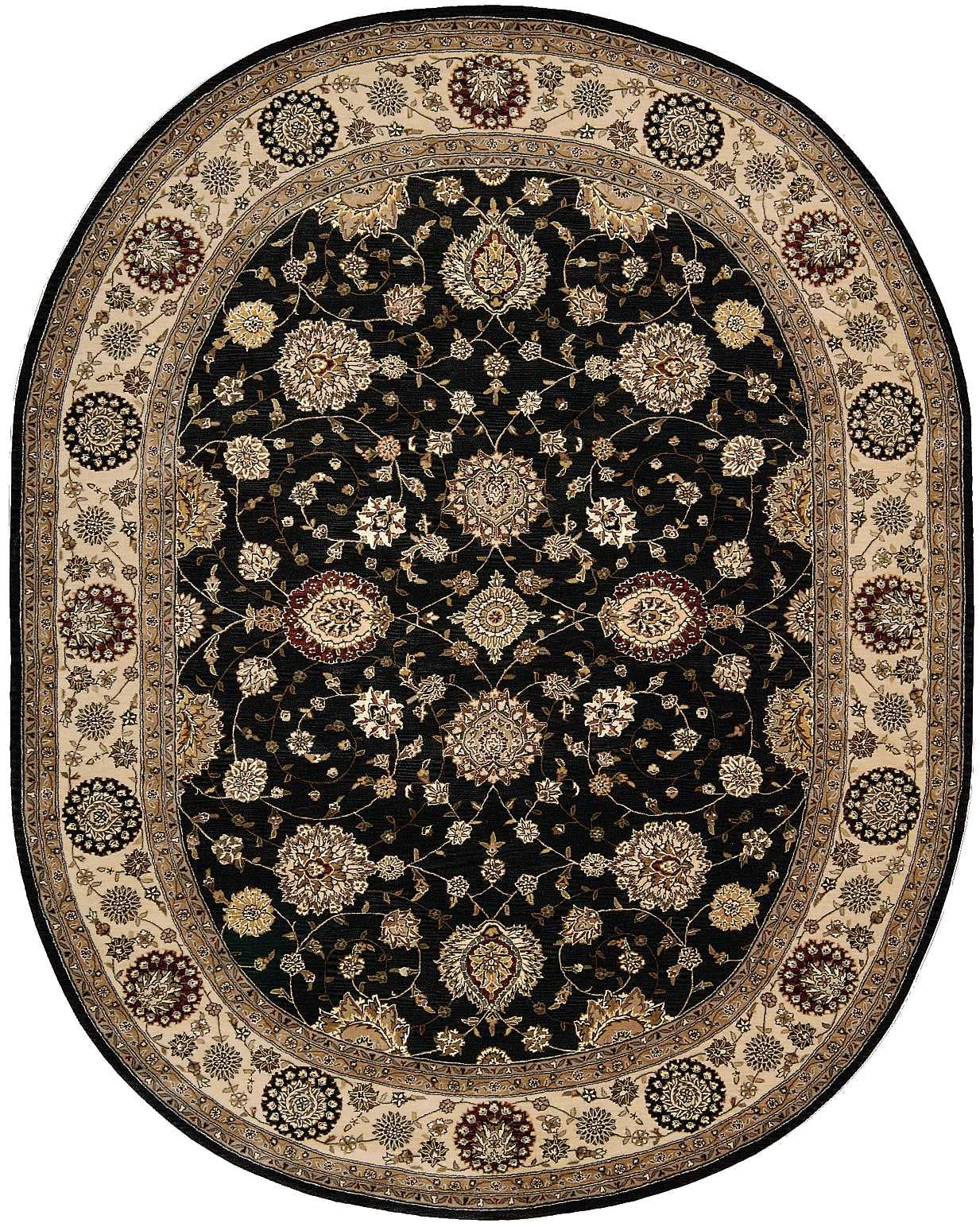 Image of: Nourison Floor Coverings 2000 2204 Navy Blue 10 Oval Area Rug 099446301291 Aminis