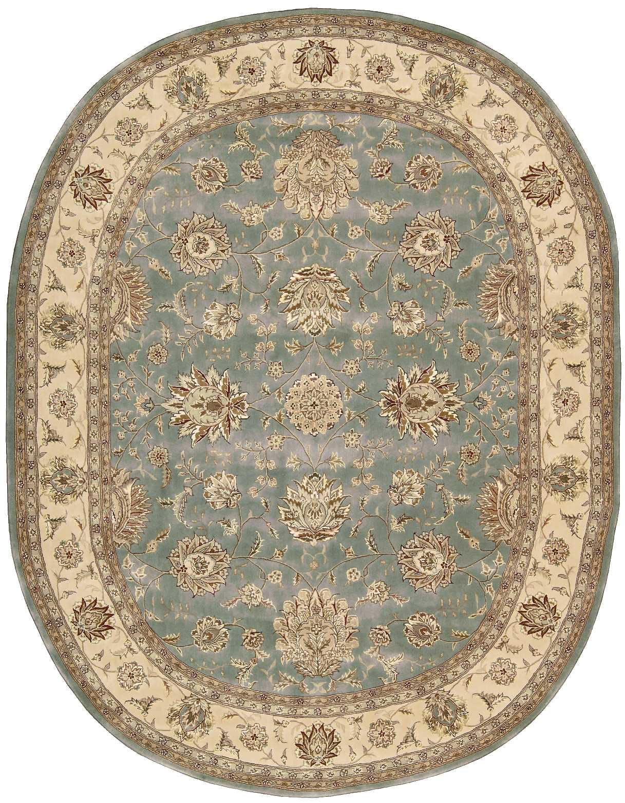 Image of: Nourison Floor Coverings 2000 2210 Blue 10 Oval Area Rug 099446593696 Aminis