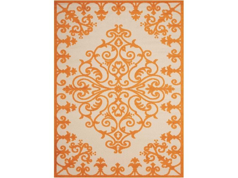 Nourison Floor Coverings Aloha Alh12 Orange 5 X8 Indoor Outdoor Area Rug 099446242990 Millennium