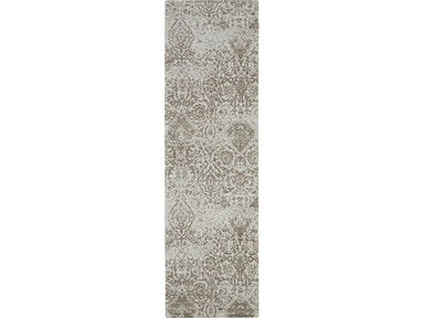 Nourison Floor Coverings Damask Das06 White 8 Runner Flat Hallway Rug 099446166753 Mclaughlins